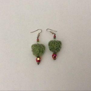 Earrings Dangle Frozen Candy Green